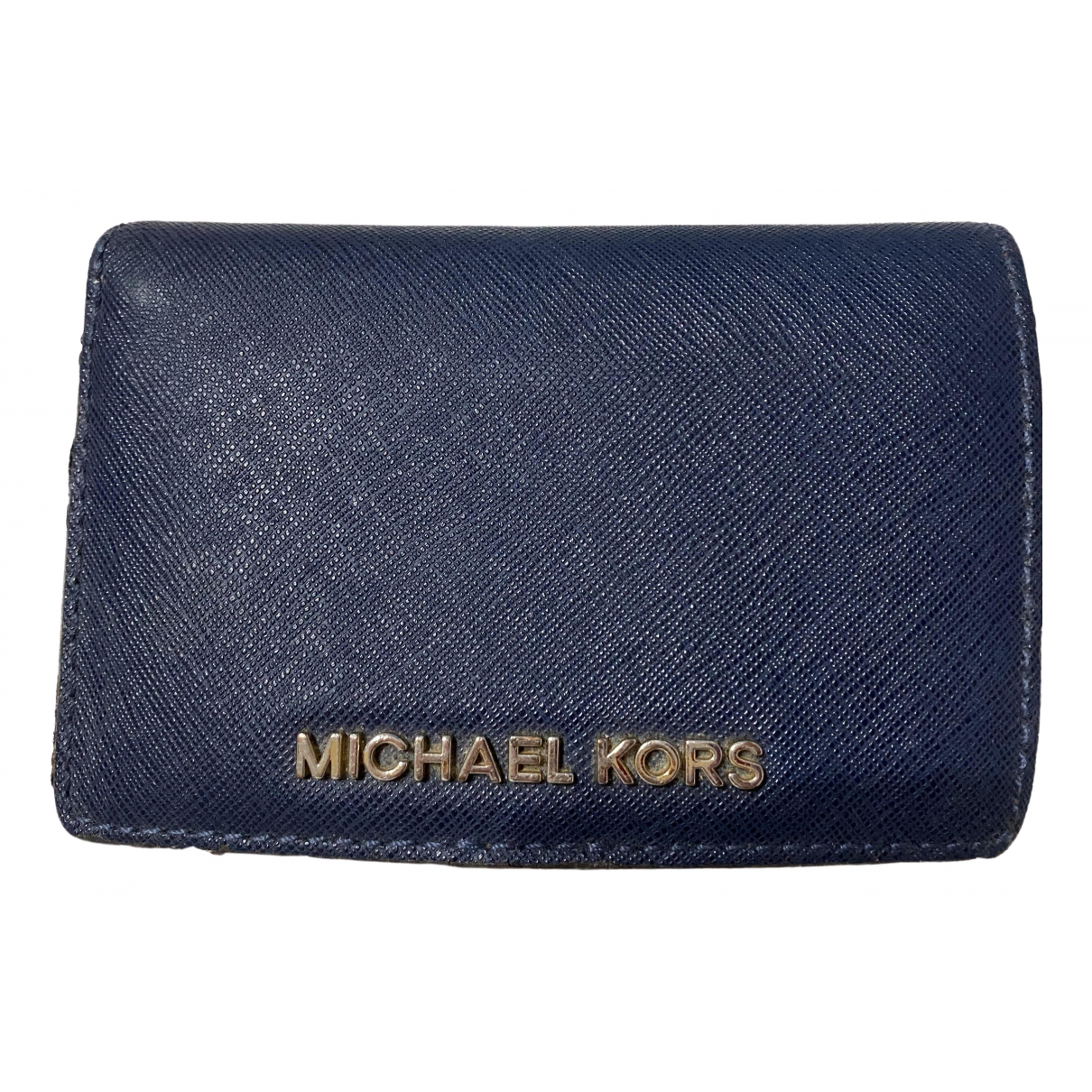 Michael Kors Jet Set Blue Leather wallet for Women \N
