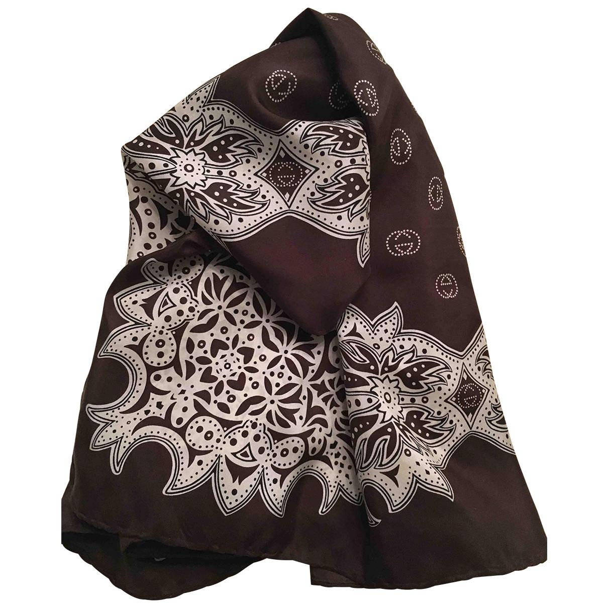 Gucci \N Brown Silk Silk handkerchief for Women \N