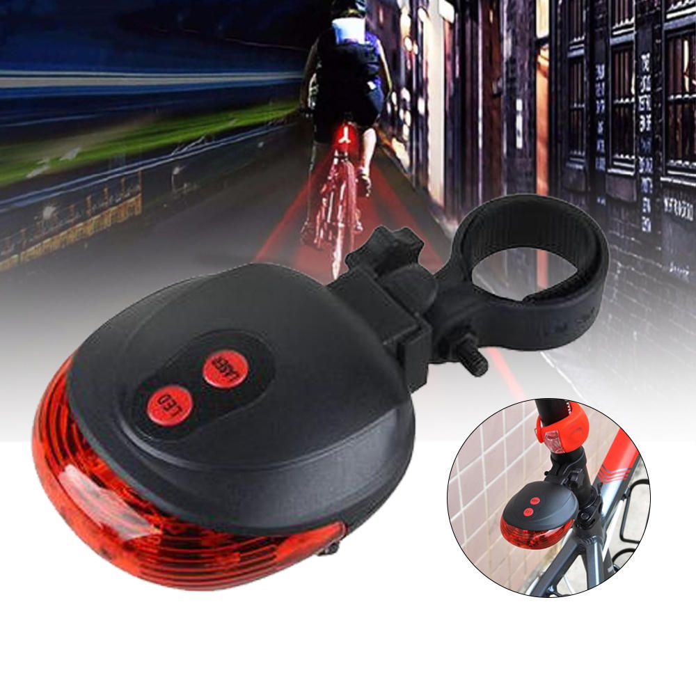 BIKIGHT 5 LED Bike Tail Light Cycling Bicycle Night Warning Light Safety Lamp