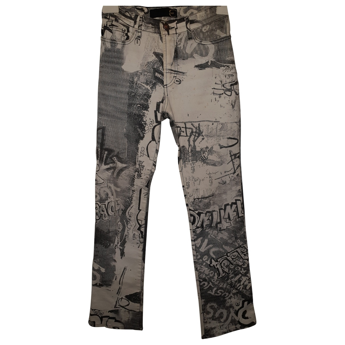 Just Cavalli \N White Cotton Jeans for Women 34 FR
