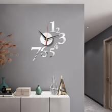 1 Set Spiegelflaesche wandhaengende Uhr