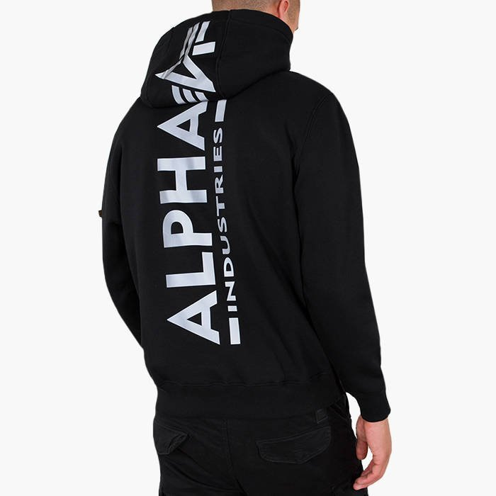 Alpha Industries Basic Print Hoody Reflective Print 178318RP 03