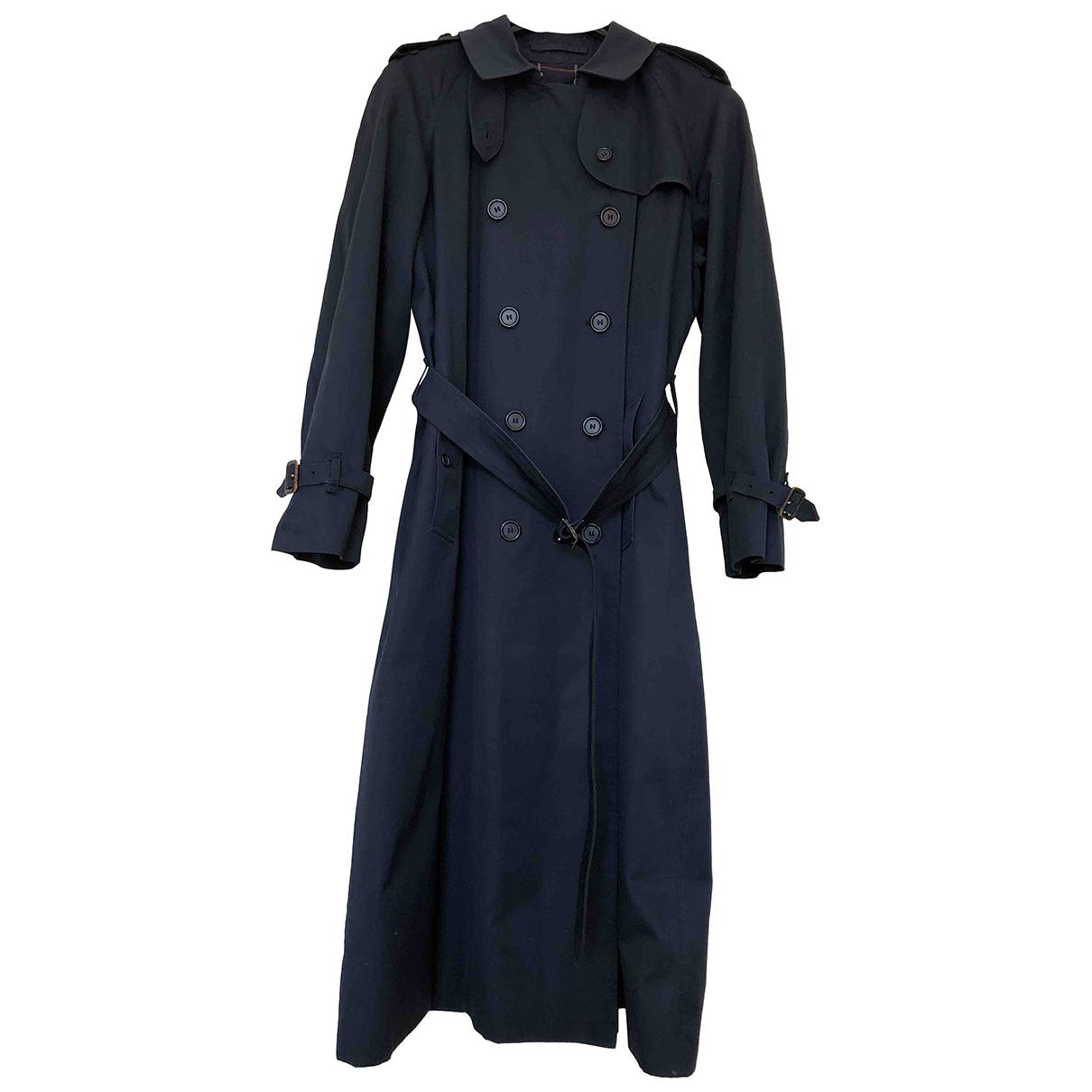 Burberry \N Navy Cotton Trench coat for Women 16 UK