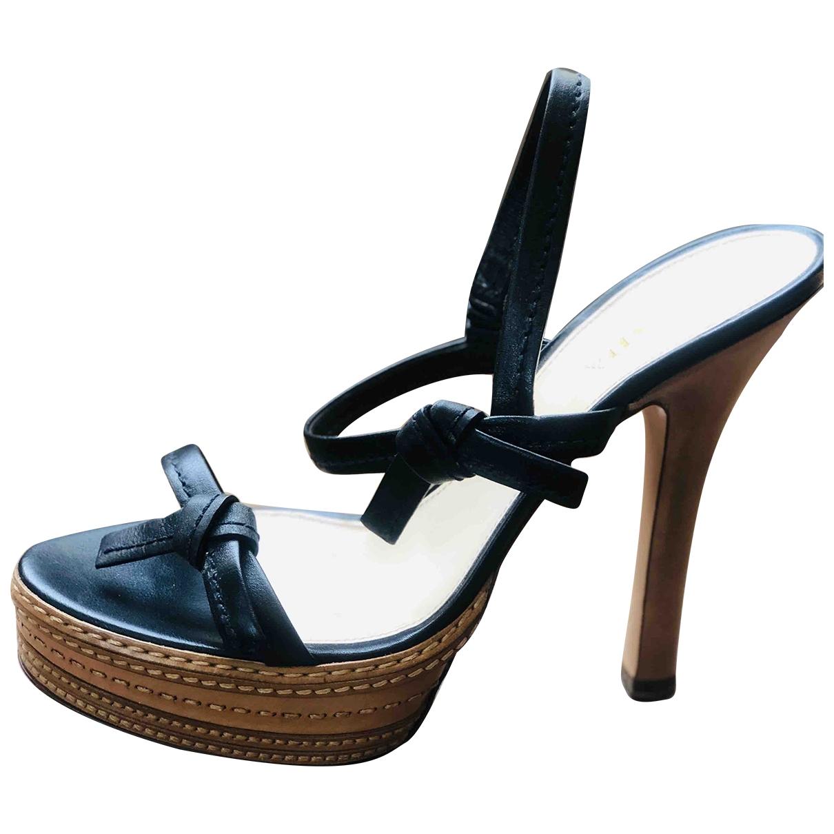 Prada \N Black Leather Sandals for Women 41 EU