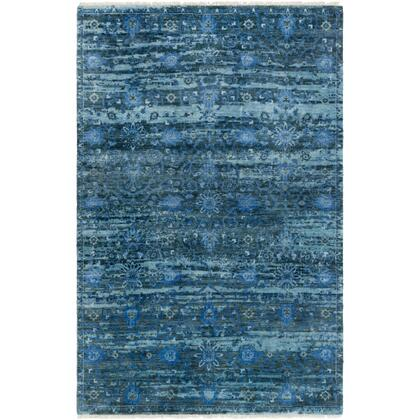 Empress EMS-7008 10' x 14' Rectangle Traditional Rug in Denim  Charcoal  Medium