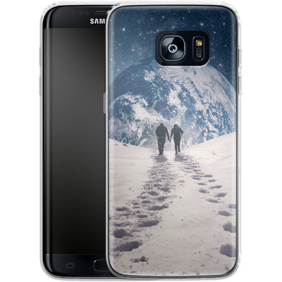 Samsung Galaxy S7 Edge Silikon Handyhuelle - Pale Blue Dot von Enkel Dika
