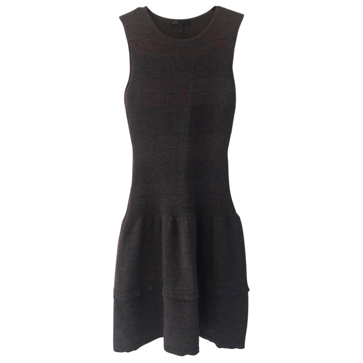 Maje \N Kleid in  Grau Wolle
