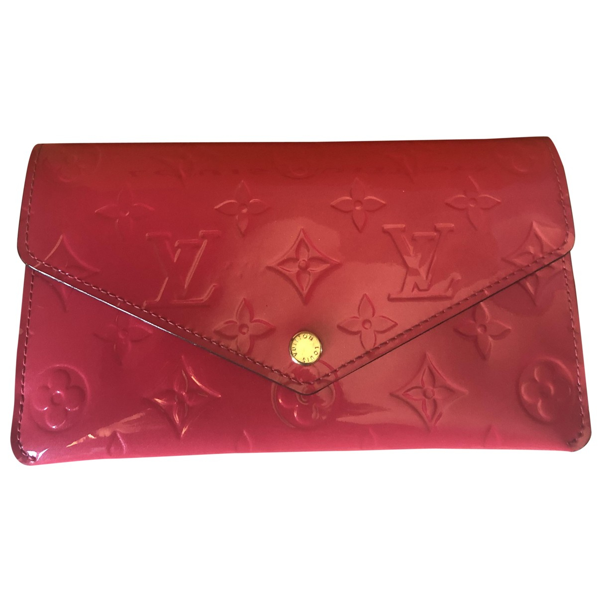 Louis Vuitton Sarah Pink Patent leather wallet for Women \N