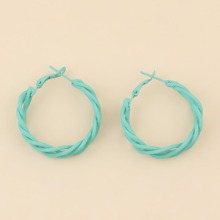 Braided Design Hoop Earrings