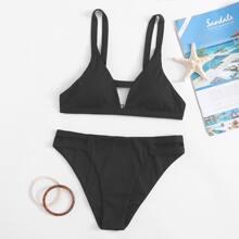 Cut Out Detail Bikini Swimsuit