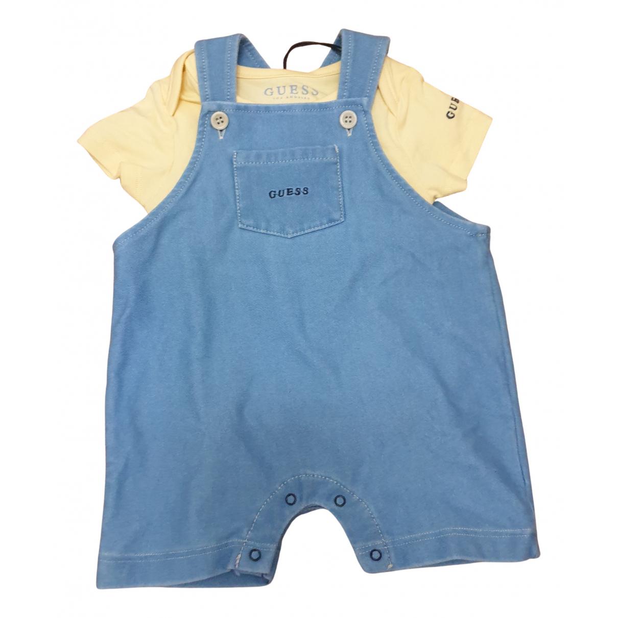 Guess - Les ensembles   pour enfant en coton - bleu