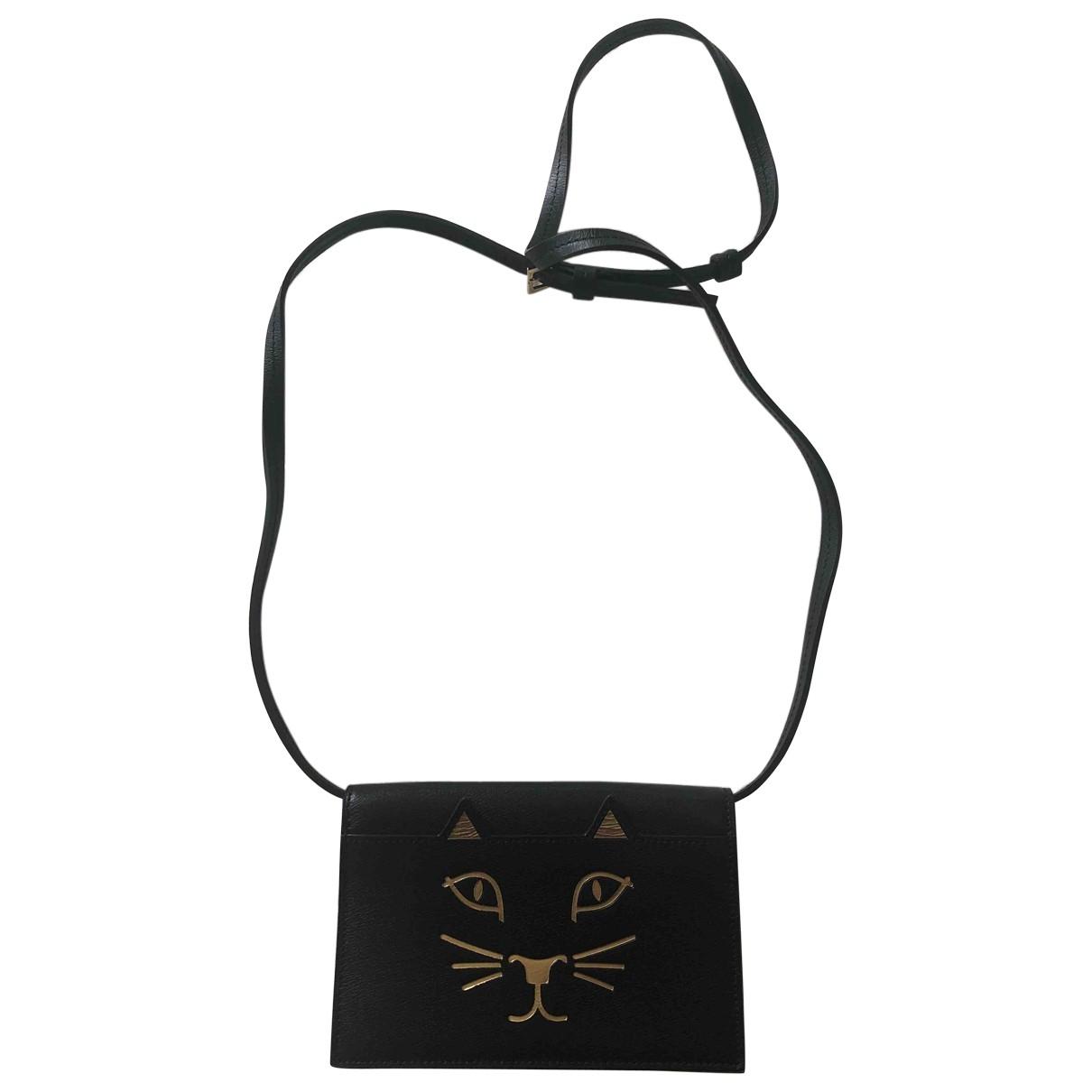 Charlotte Olympia \N Black Leather handbag for Women \N