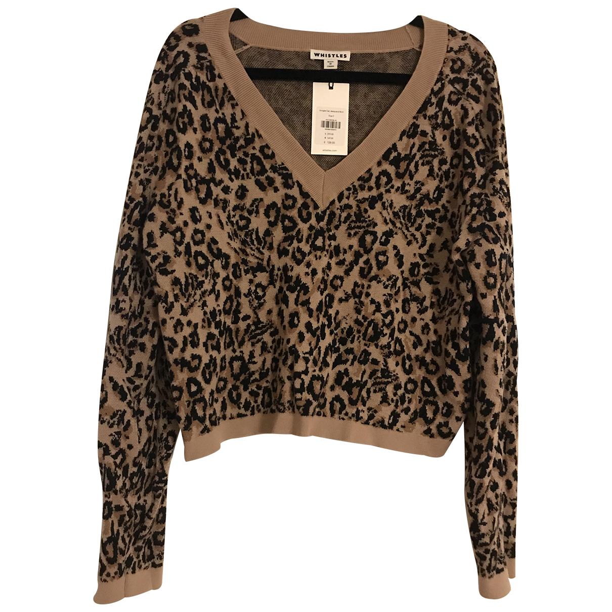 Whistles - Pull   pour femme en laine - marron