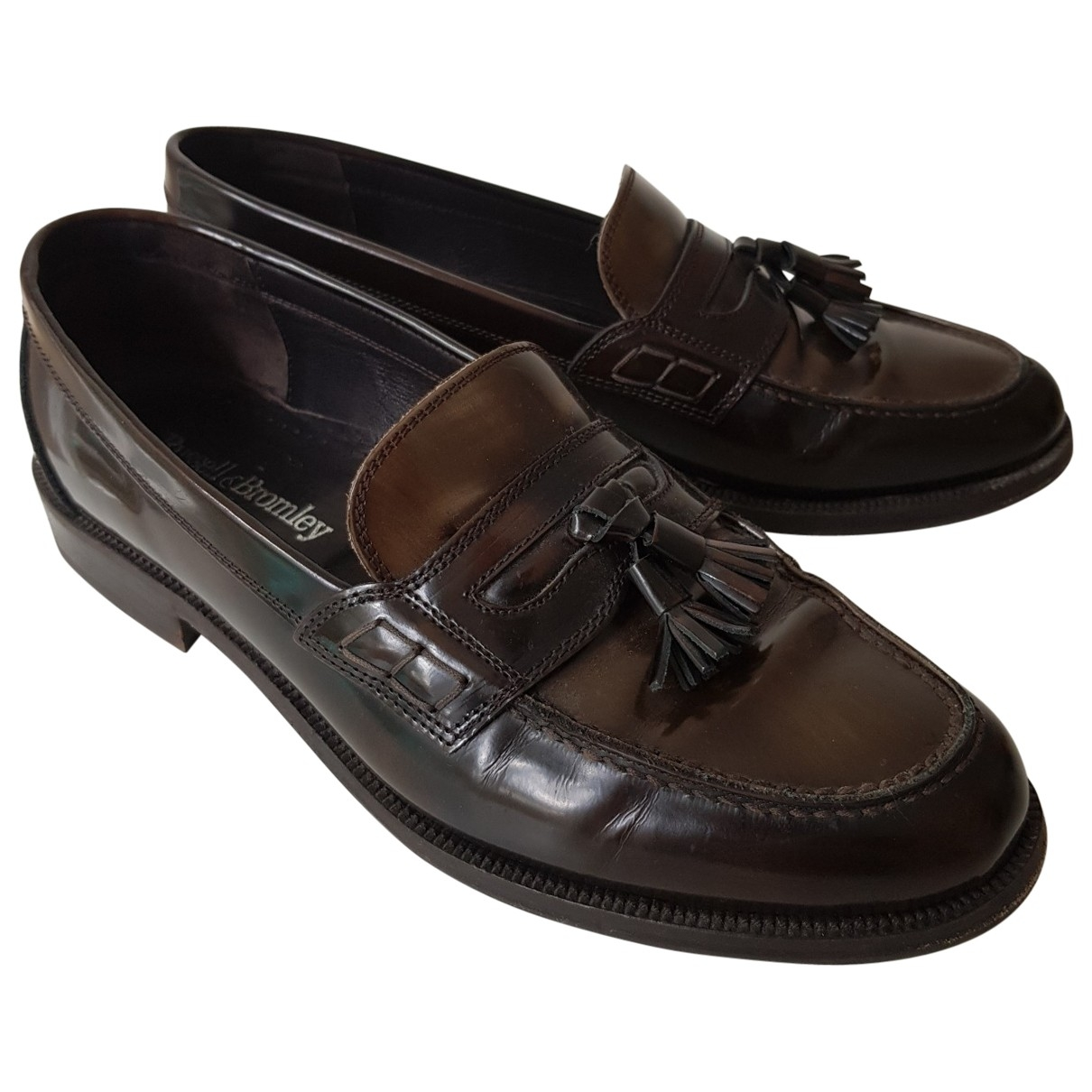 Russell & Bromley \N Brown Patent leather Flats for Men 44.5 EU