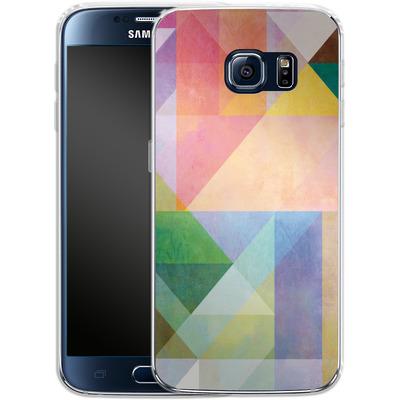 Samsung Galaxy S6 Silikon Handyhuelle - Color Blocking 1 von Mareike Bohmer