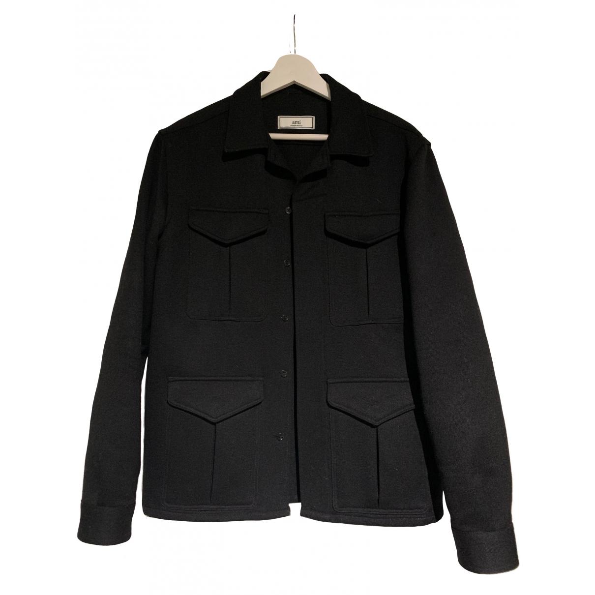 Ami - Chemises   pour homme en laine - noir