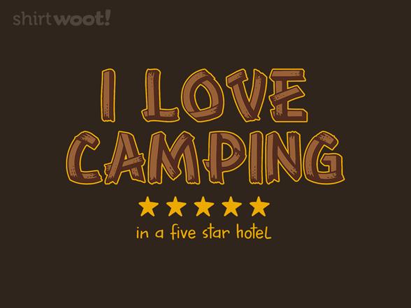 I Love Camping T Shirt