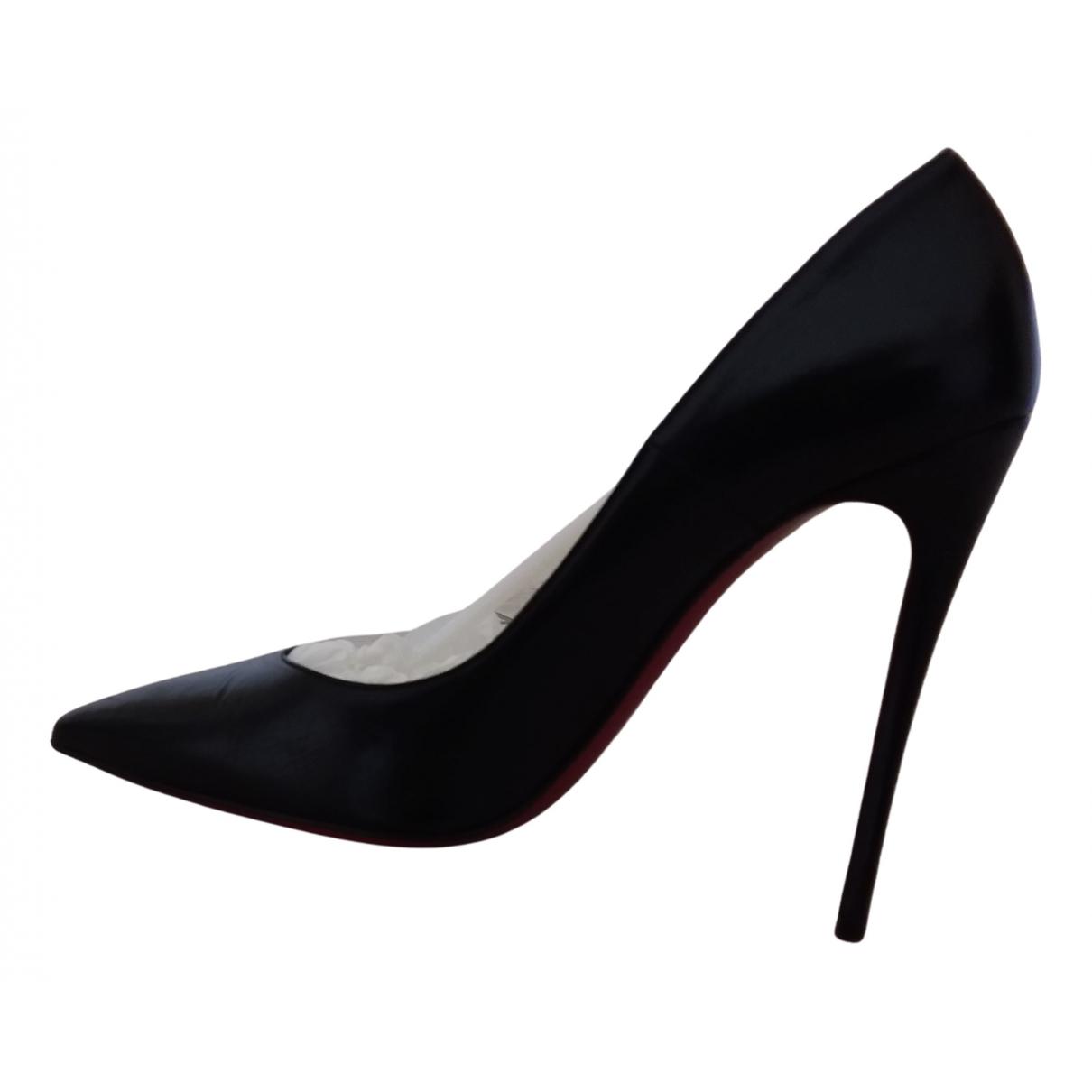 Christian Louboutin So Kate  Black Leather Heels for Women 38.5 IT