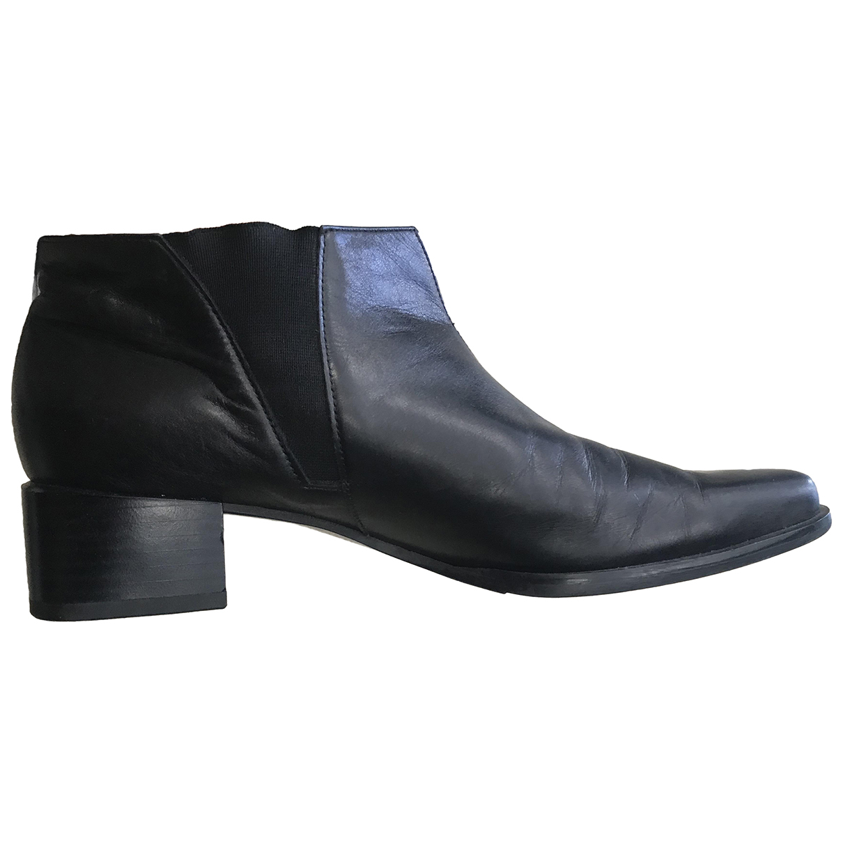 Peter Kaiser N Black Leather Ankle boots for Women 38 EU