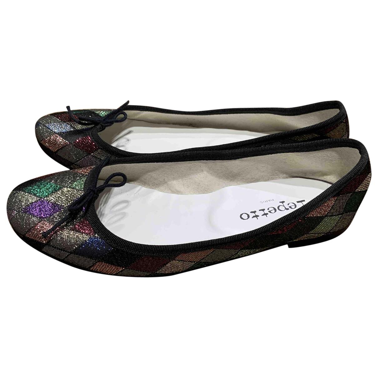Repetto \N Metallic Cloth Ballet flats for Women 38.5 EU