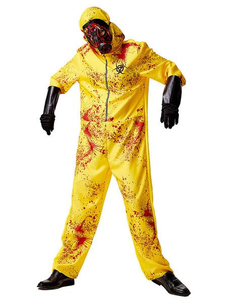 Milanoo Disfraces de Halloween Hazmat Traje de proteccion Zombie Fun Toxic Fun