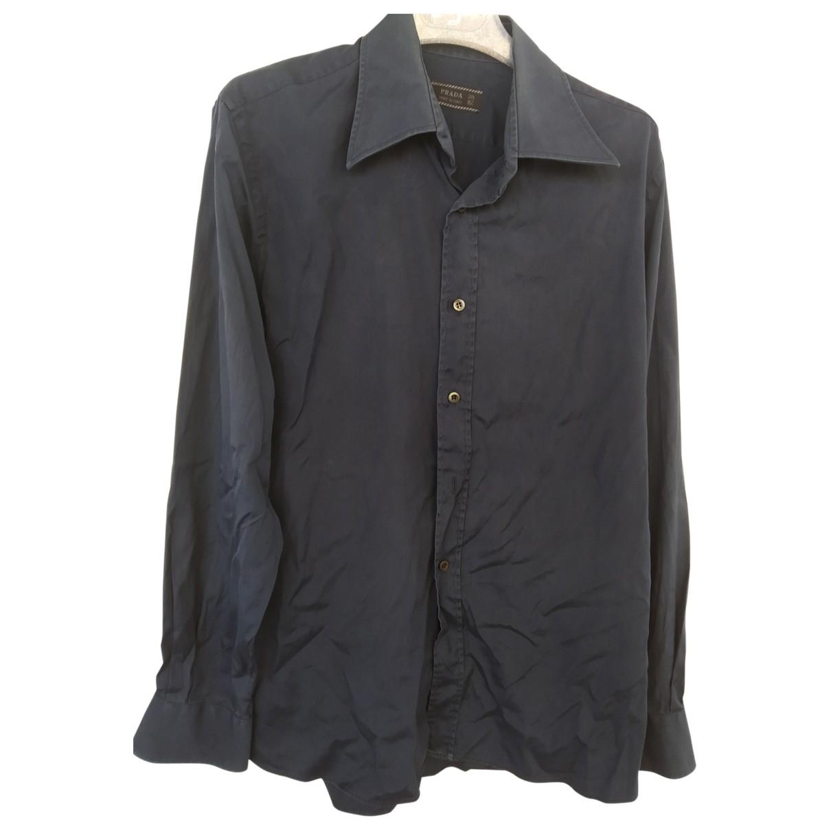 Prada \N Hemden in  Marine Baumwolle