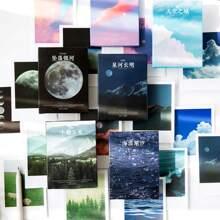 30 Stuecke zufaelliger Aufkleber mit Landschaft Muster