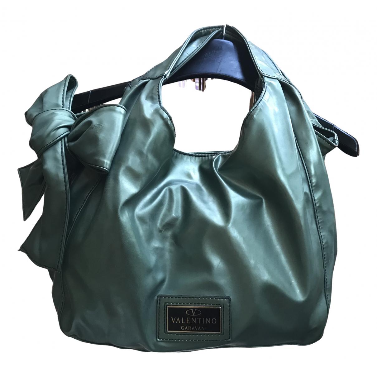 Valentino Garavani \N Handtasche in  Gruen Leder