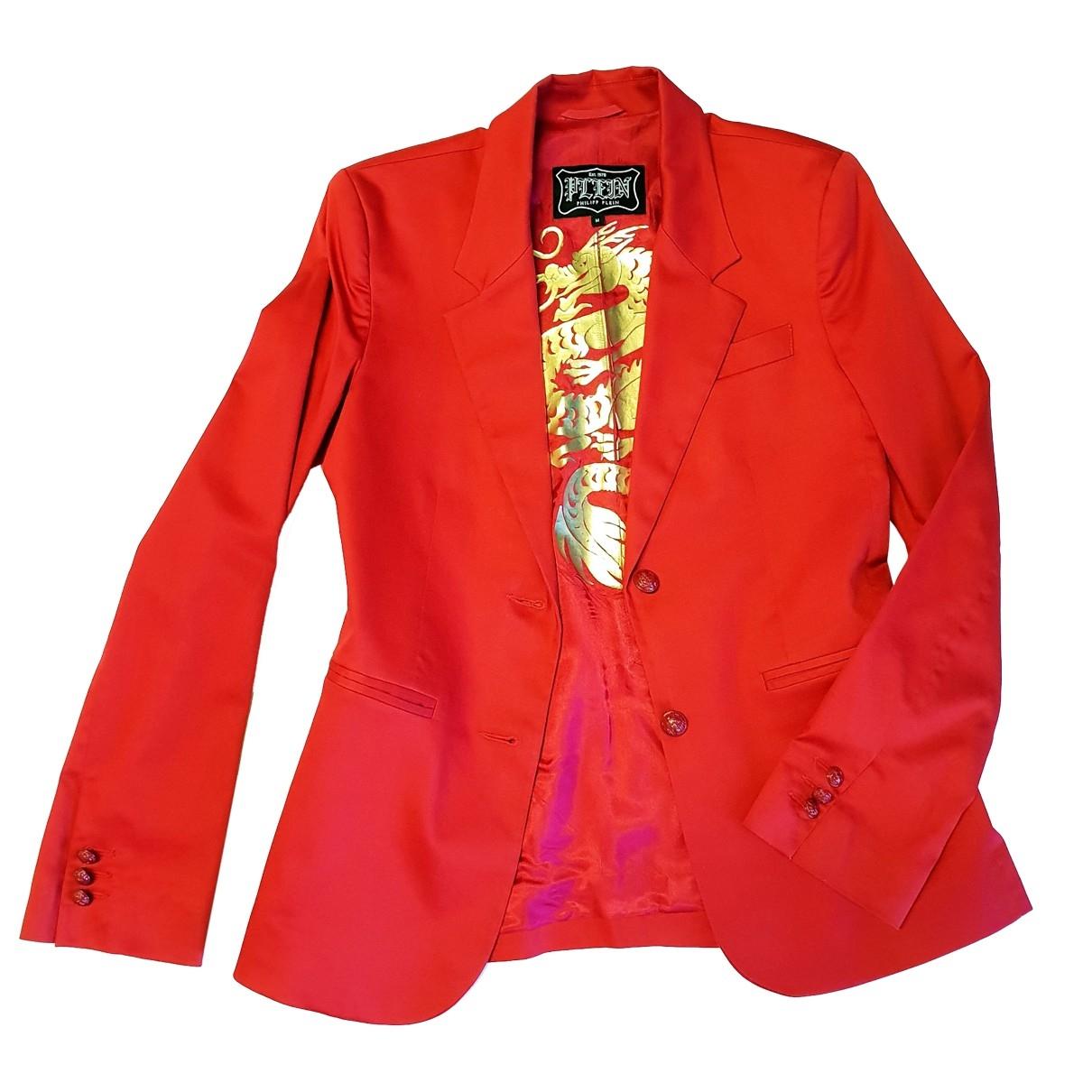 Philipp Plein \N Red Cotton jacket for Women M International