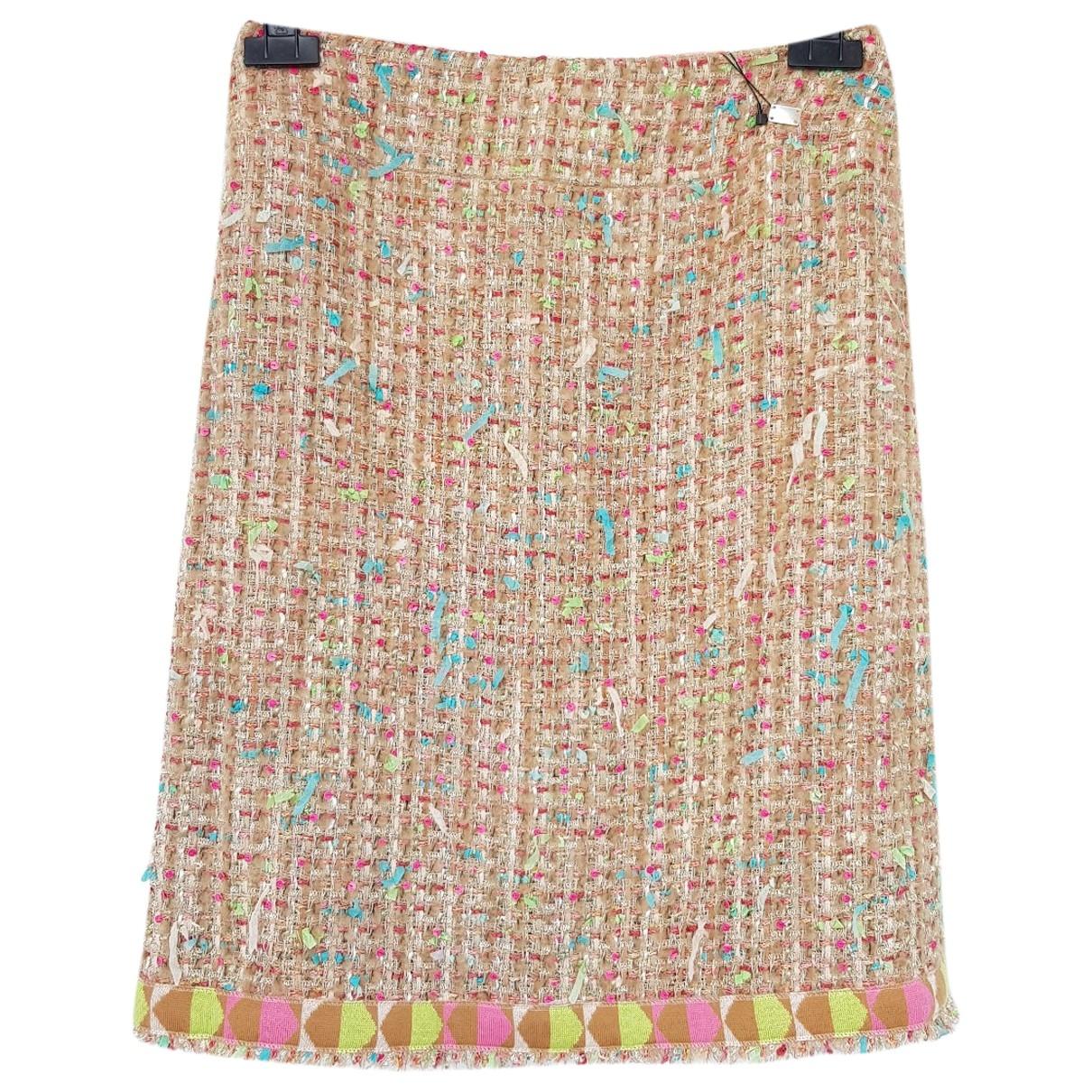 Chanel \N Beige Tweed skirt for Women 42 FR