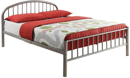 Cailyn Collection 30465FSI Full Size Bed with Curved Headboard  Low Profile Rectangular Footboard  Slat System Included  Metal Frame  Side Rails and