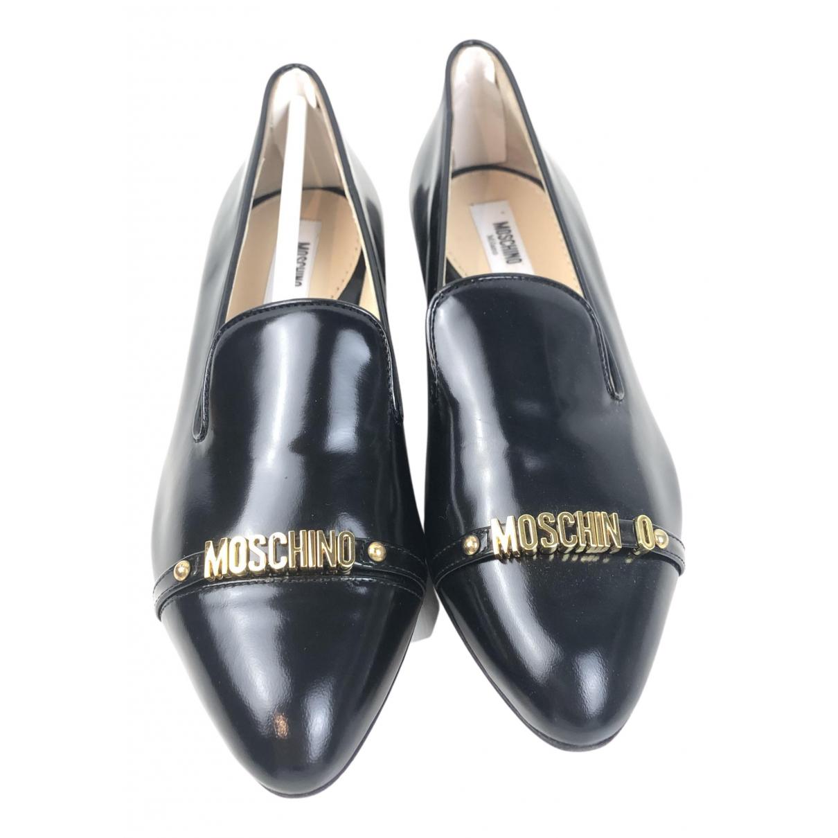 Moschino - Mocassins   pour femme en cuir - noir