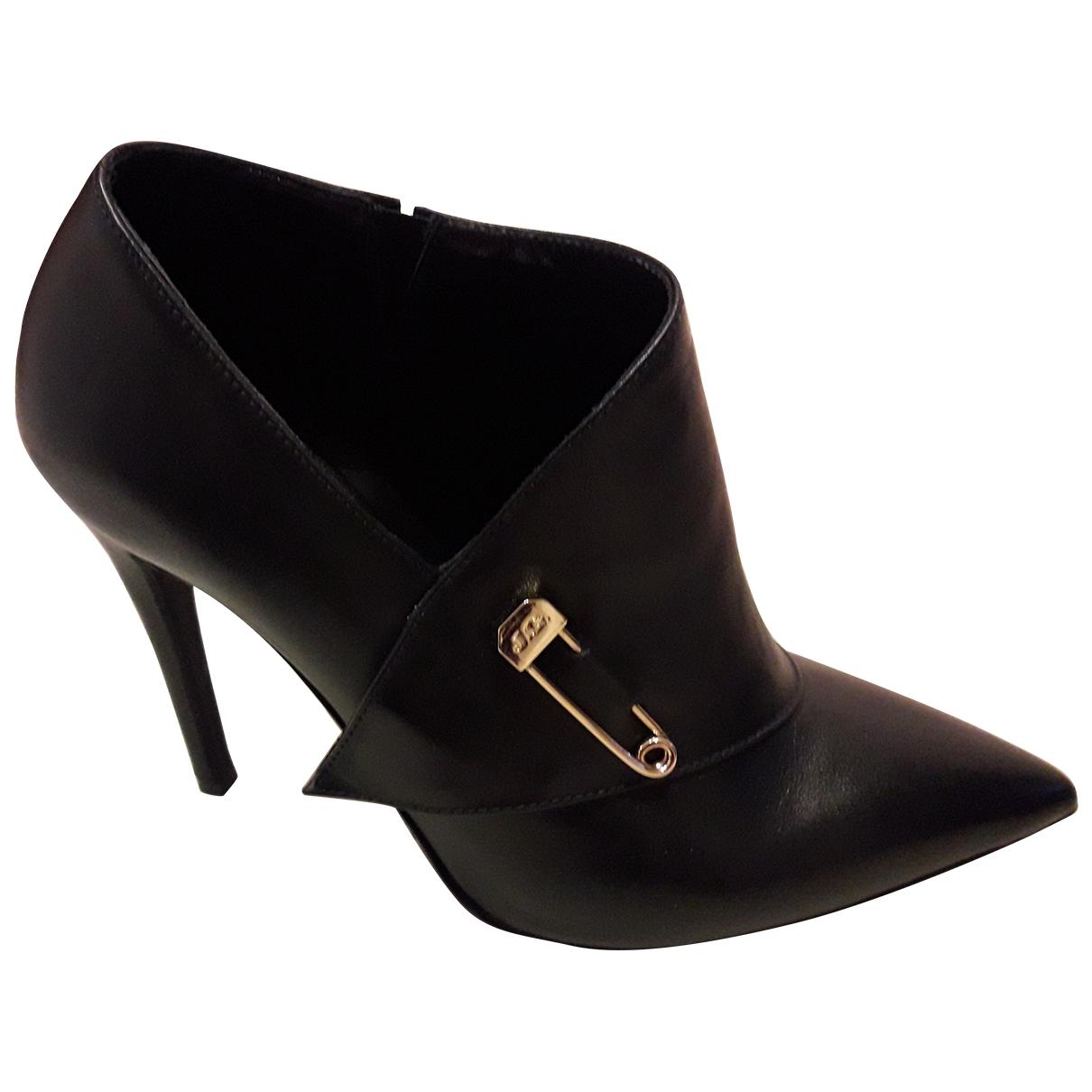 John Galliano - Escarpins   pour femme en cuir - noir