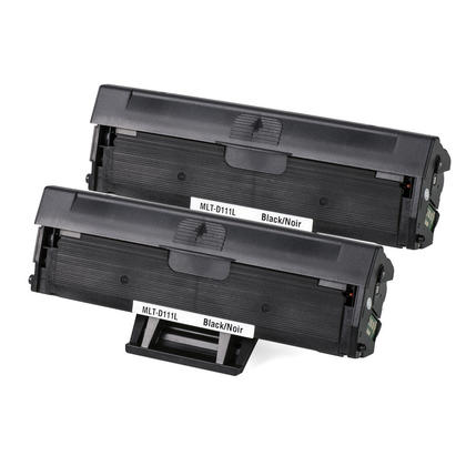 Compatible Samsung MLT-D111S Black Toner Cartridge - Economical Box - 2/Pack