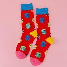 Socken mit Dollar Muster