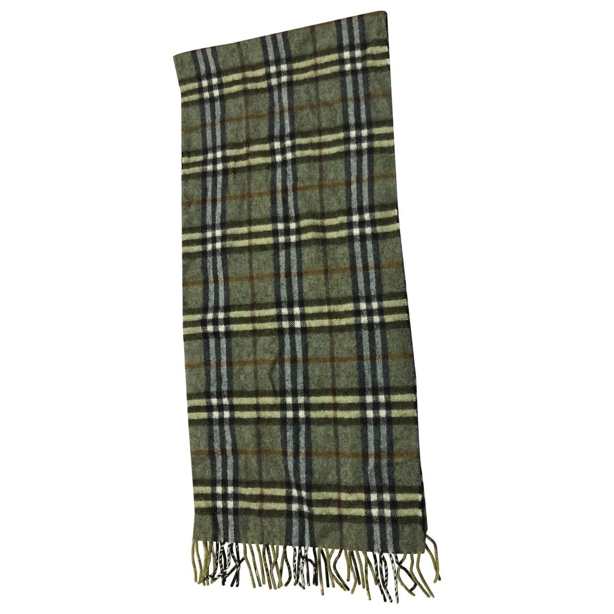 Burberry \N Green Cashmere scarf & pocket squares for Men \N
