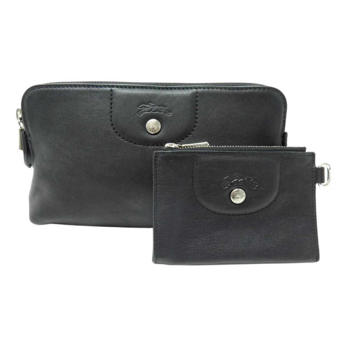 Longchamp - Petite maroquinerie   pour femme en cuir - noir