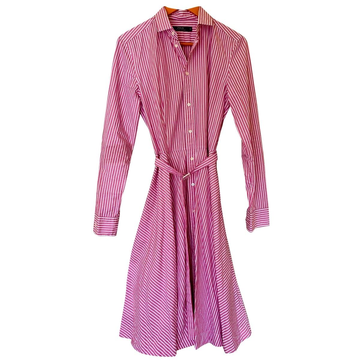 Polo Ralph Lauren - Robe   pour femme en coton - rose
