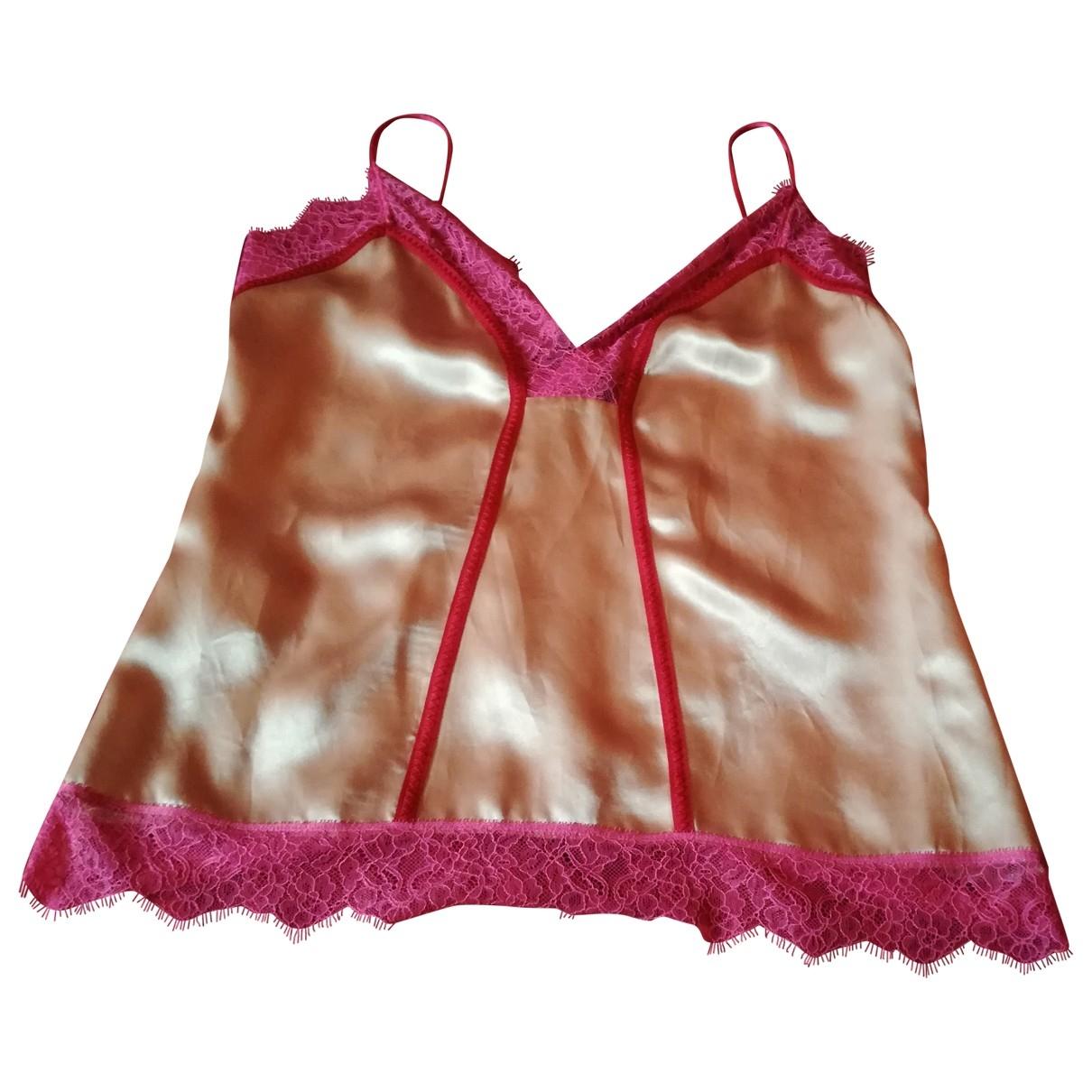 Pinko - Top   pour femme en soie - rose