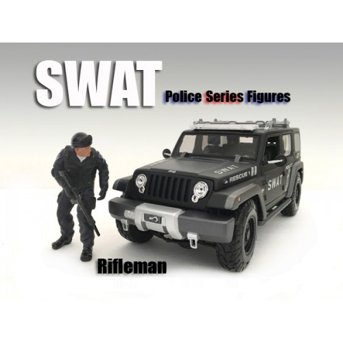 SWAT Team Rifleman Figure For 118 Scale Models by American Diorama