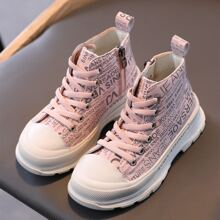 Girls Letter Print Boots