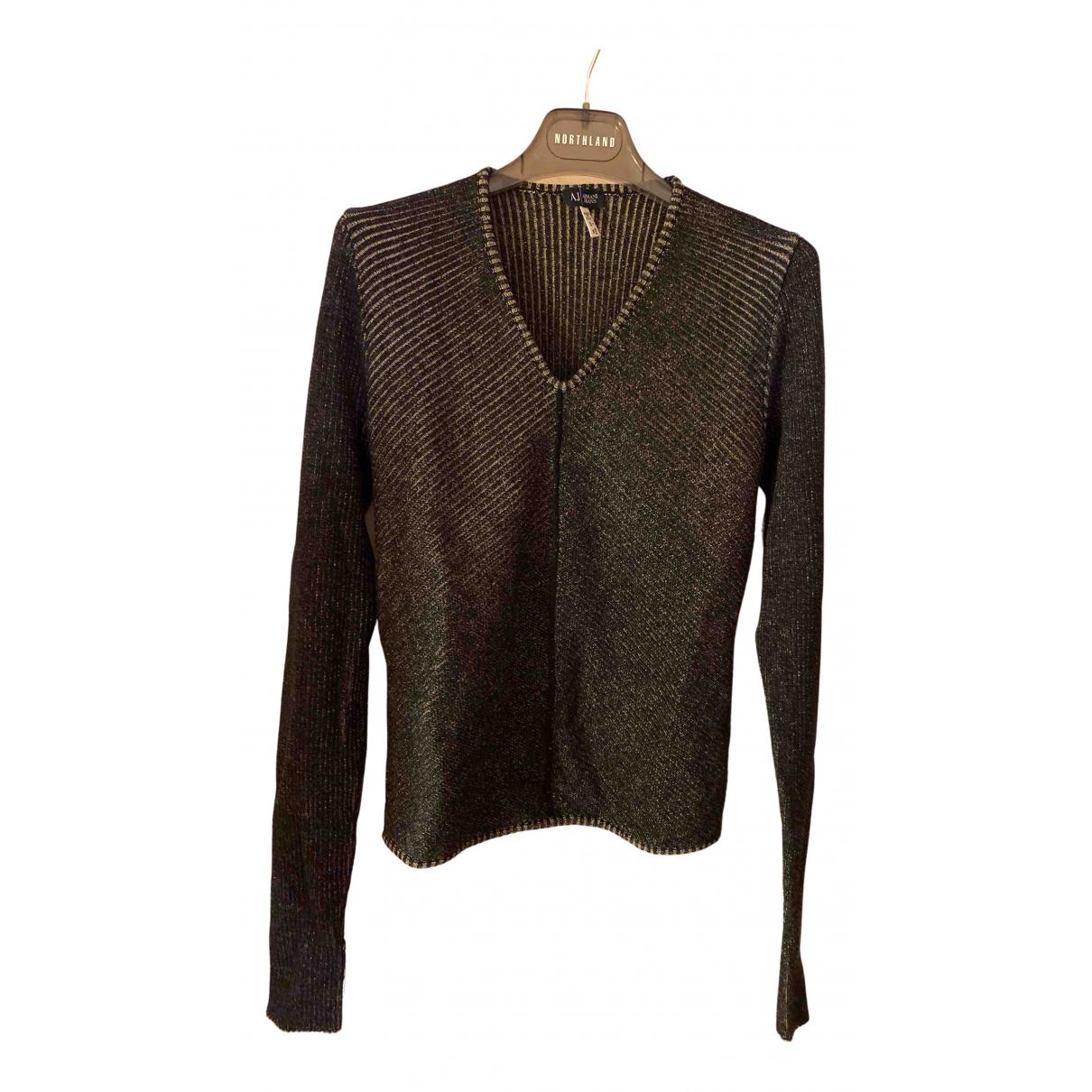 Armani Jeans N Brown Wool Knitwear for Women 44 IT