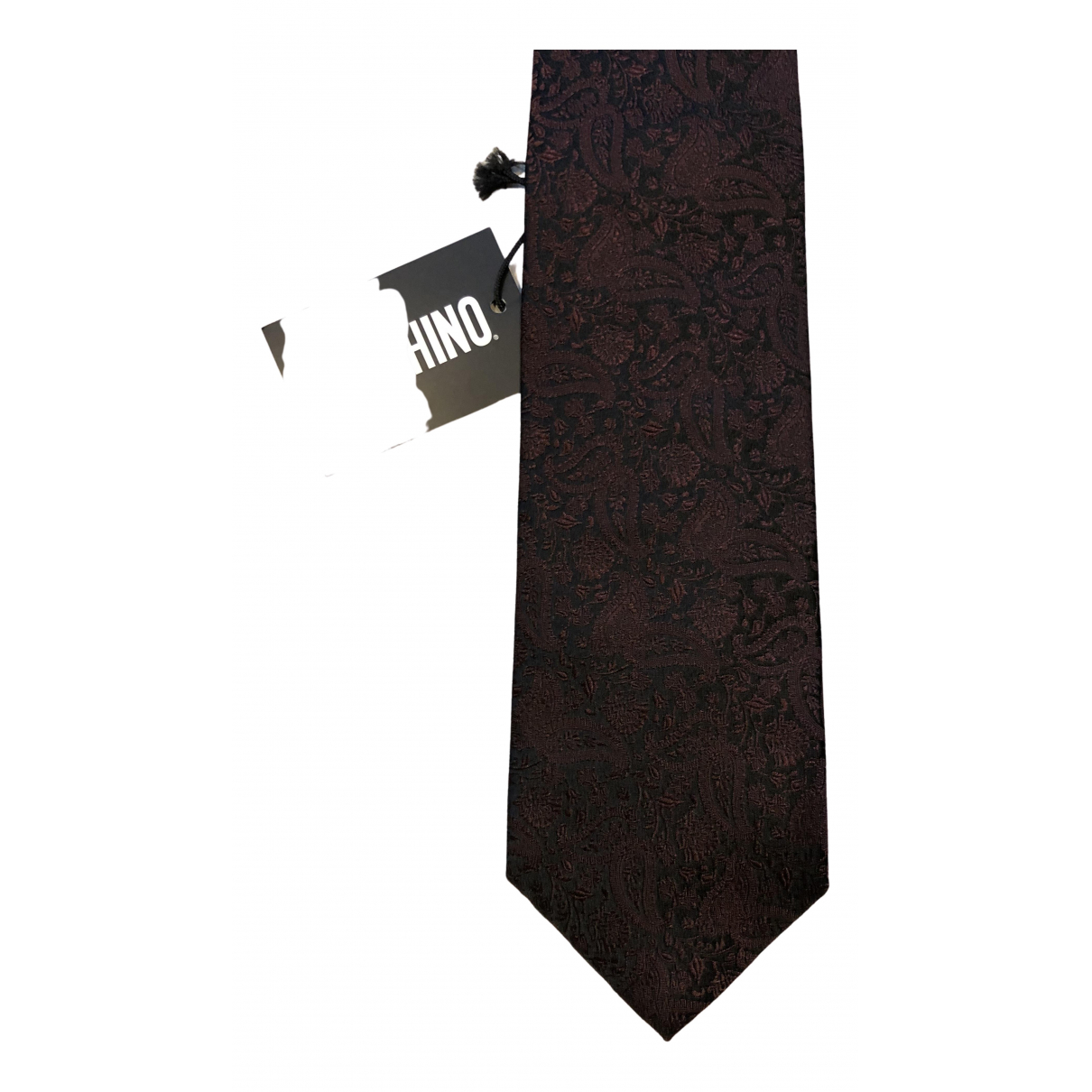 Moschino - Cravates   pour homme en soie - noir