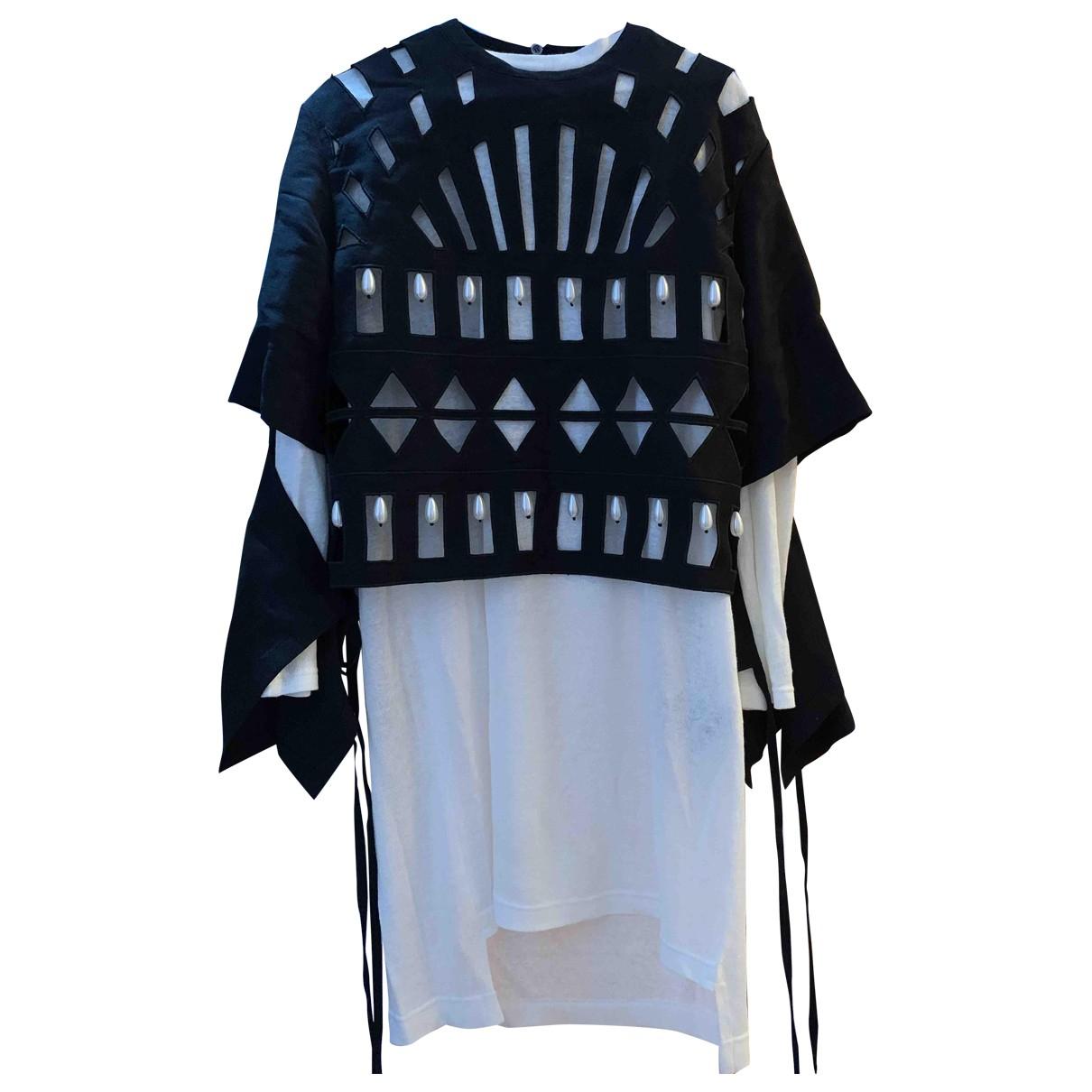 Loewe \N Black Linen dress for Women 36 FR