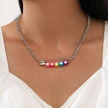 Star Paper Clip Pendant Necklace