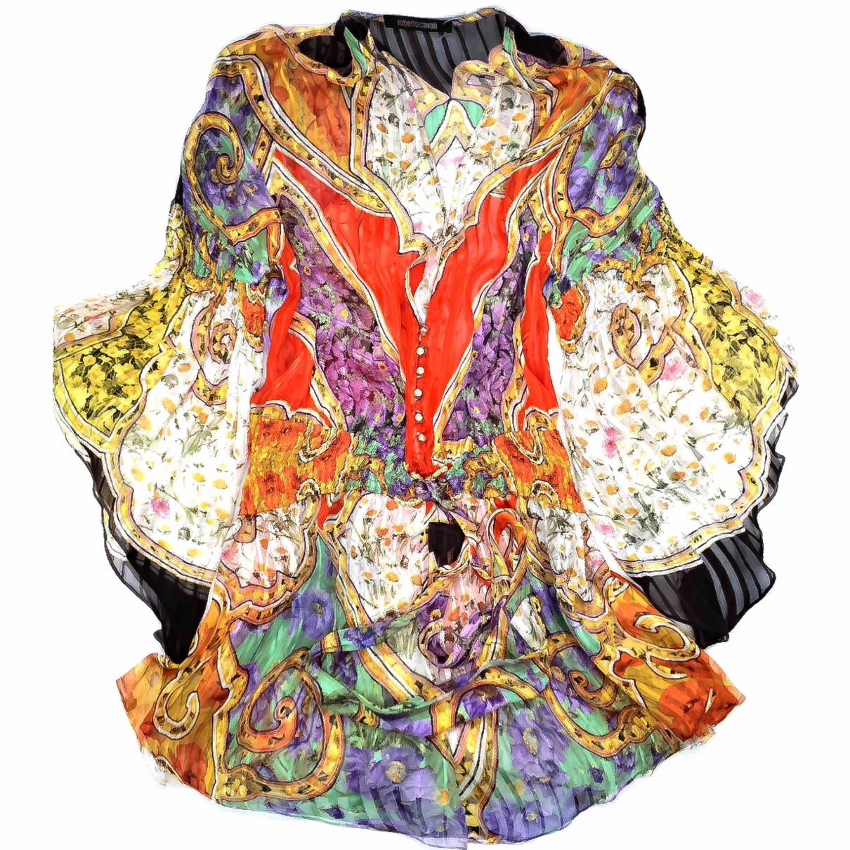 Roberto Cavalli - Top   pour femme en soie - multicolore