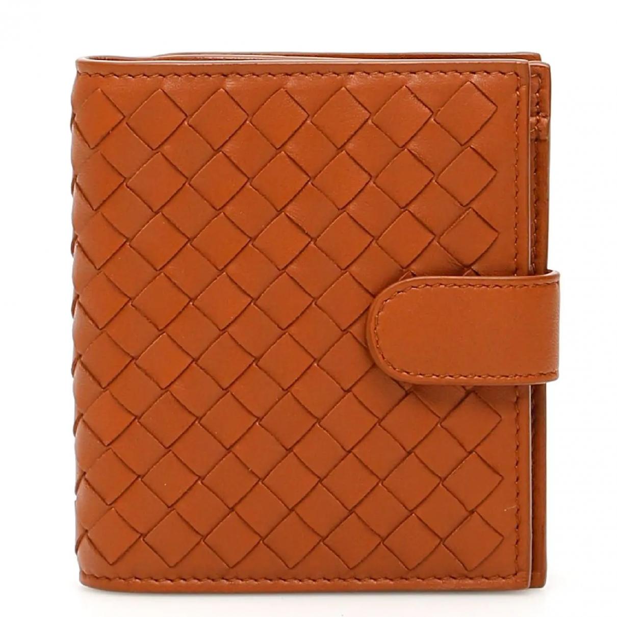 Bottega Veneta \N Portemonnaie in  Orange Leder