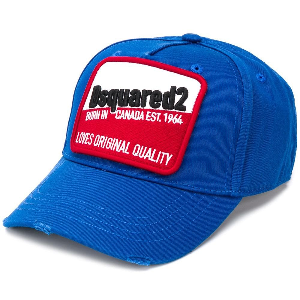 Dsquared2 Patch Embroidered Logo Cap Blue Colour: BLUE, Size: ONE SIZE