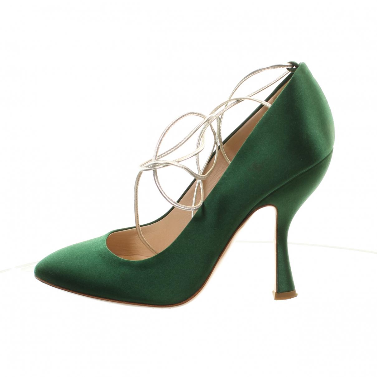 Miu Miu - Escarpins   pour femme en cuir - vert