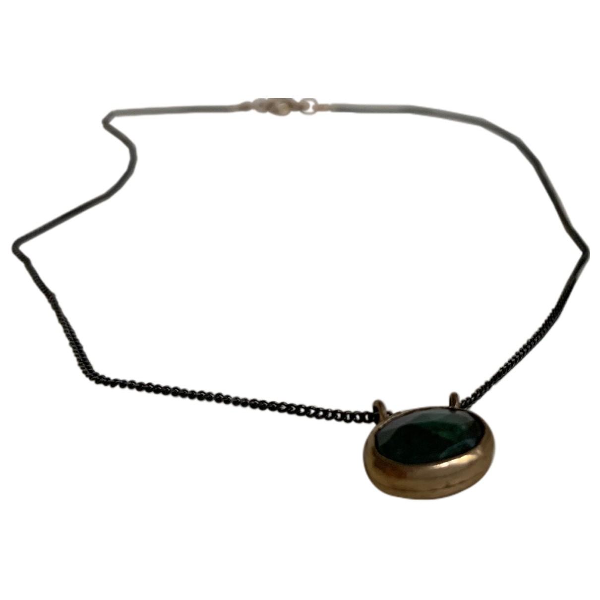 Collar Emeraude de Plata Non Signe / Unsigned